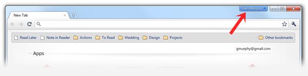 Perfis do Google Chrome 8 na versão de desenvolvimento