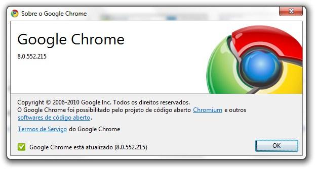 Versão final do Chrome 8