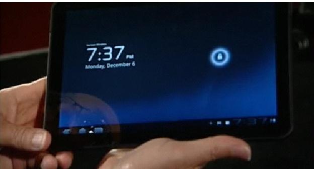 Honeycomb em um tablet Motorola.