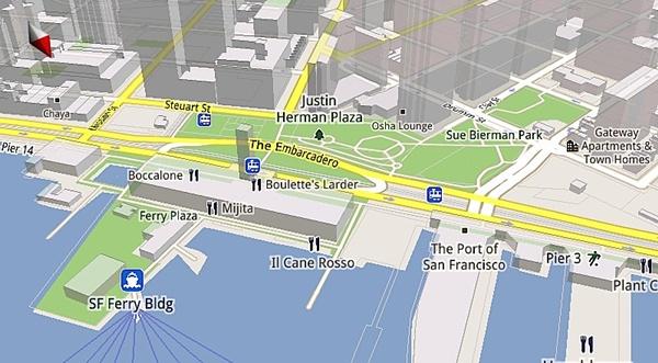 Google Maps for Mobile 5.0 agora é em 3D.