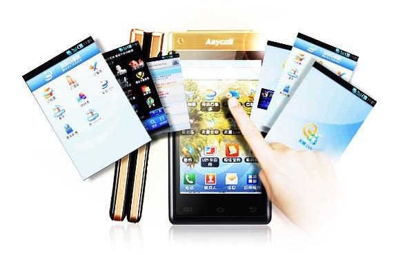 Celular com flip e Android, por enquanto apenas na China