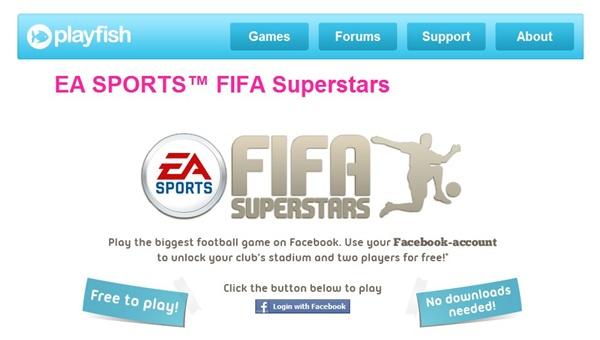 FIFA Superstars requer cadastro no Facebook