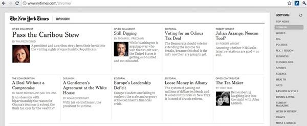 The New York Times, um dos poucos aplicativos adaptados para o Chrome OS