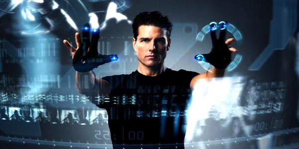 A interface gestual do filme Minority Report - A Nova Lei