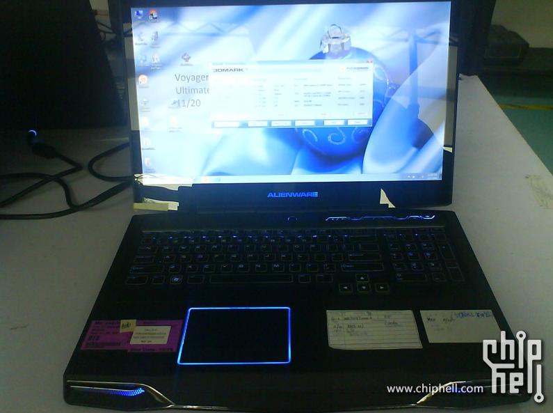 O notebook M17x da Alienware com processador Intel da arquitetura Sandy Bridge