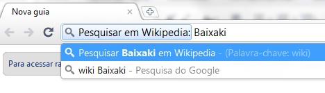 Pesquise pela palavra-chave na Wikipedia!