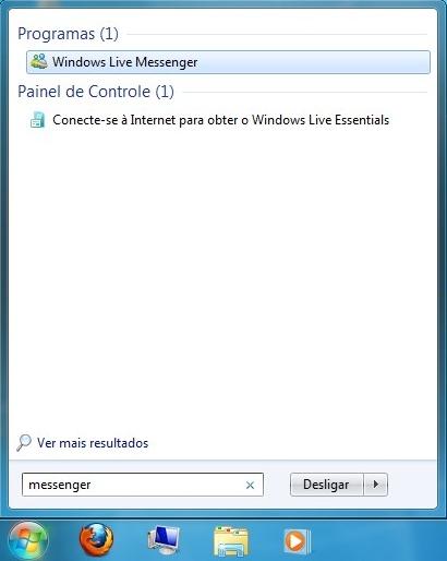 Acesse pelo teclado com a tecla Windows e Enter