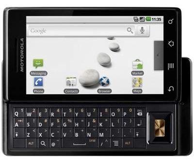Motorola A853 Milestone Preto (de R$ 1.899,00 por R$ 999,00)