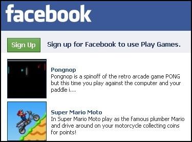 O Facebook está repleto de jogos.