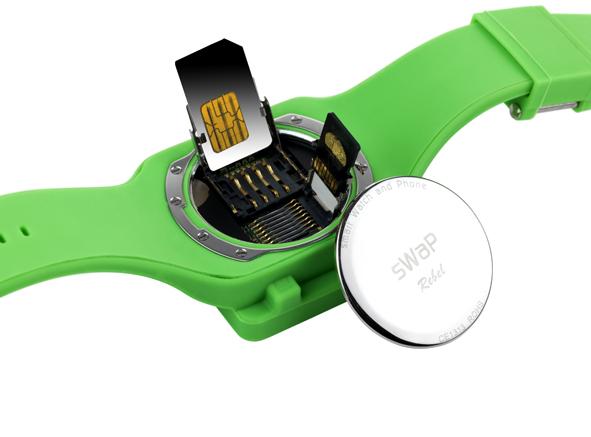O relógio pode ser usado com qualquer operadora!