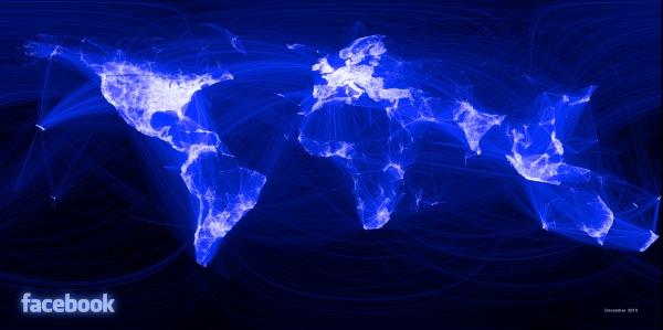 Amigos conectados criam mapa