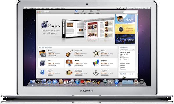 Mac App Store disponível em 6 de janeiro