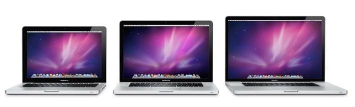 MacBook Pro em vários tamanhos