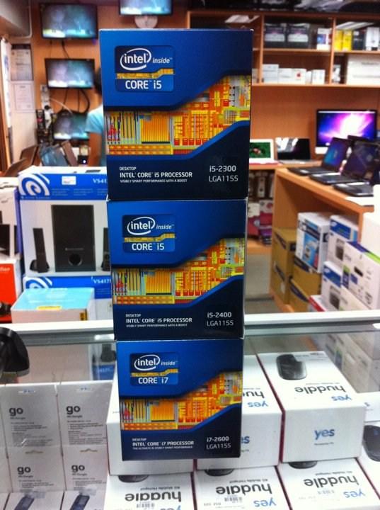 Processadores Intel Core i3, i5 e i7 com tecnologia Sandy Bridge nas prateleiras da Malásia