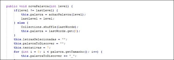 Exemplo de código em Java