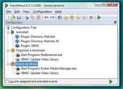Configurando o EventGhost.