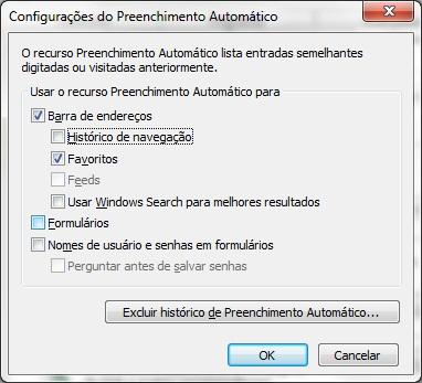 """Como editar o recurso """"Autocompletar"""" do Internet Explorer"""