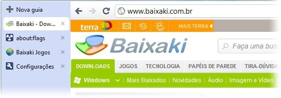 Abas laterais do Chrome.
