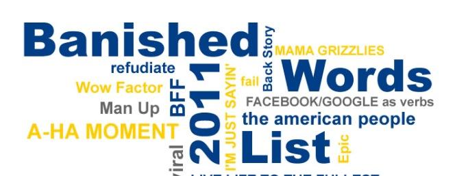 Gírias usadas na internet são o topo da lista de banidas.