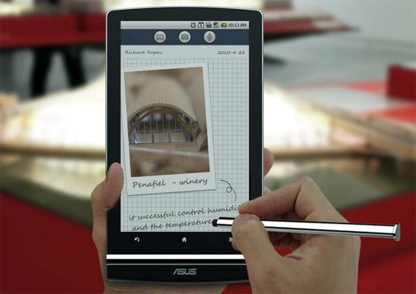 Media Note, aplicativo de anotações no ASUS Eee Pad MeMO