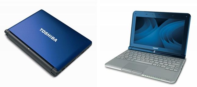 Novos netbooks da Toshiba anunciados na CES 2011. Fotos: Divulgação