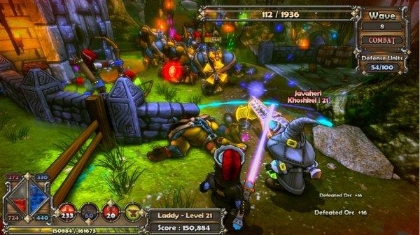 Dungeon Defenders, game que foi demonstrado na apresentação