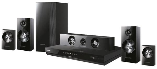 Sistema de som e leitor Blu-ray da Samsung