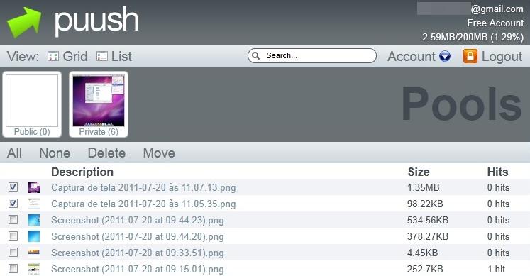 puush - Imagem 1 do software