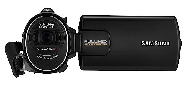 Filmadora HD da Samsung.