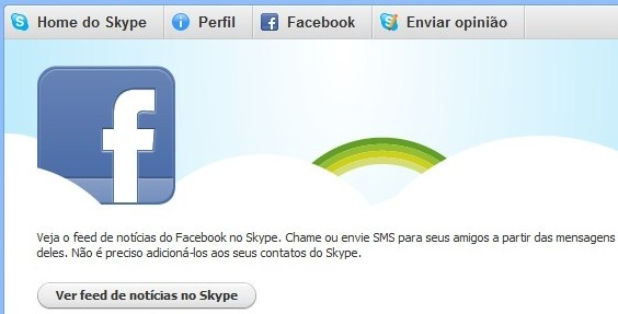 Skype, agora integrado com o Facebook.