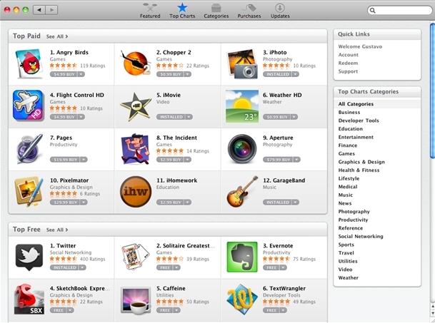 Ainda não há muitos aplicativos