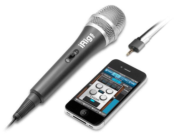 Microfone com compressor para iPods