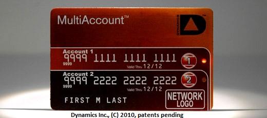 Cartão para múltiplas contas