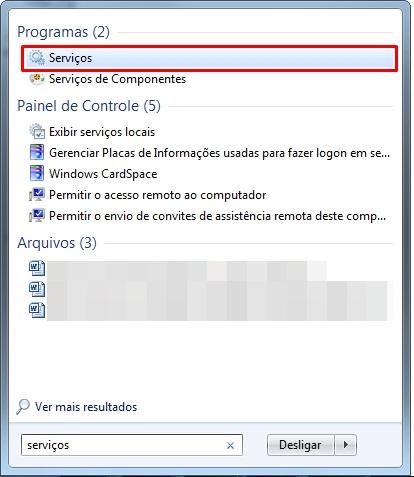 Serviços do Windows