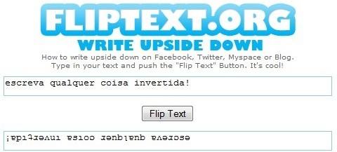 Fliptext: inverta seus textos facilmente.
