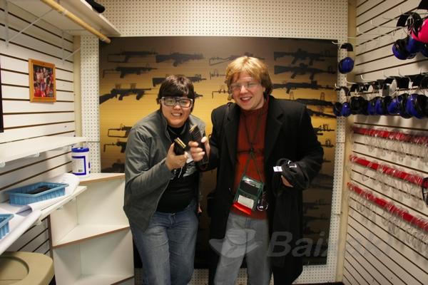 Gustavo e eu prontos para dar uns tiros!