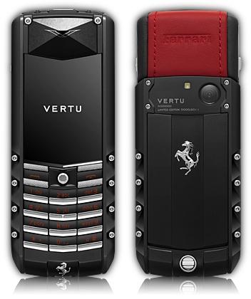Mais um modelo Vertu com assinatura Ferrari.