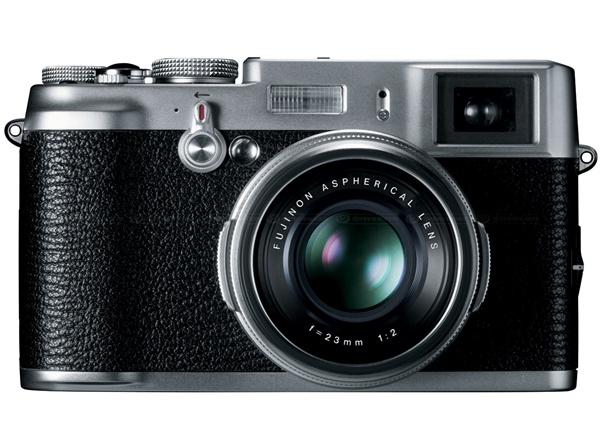 Câmera da Fujifilm com visor híbrido.