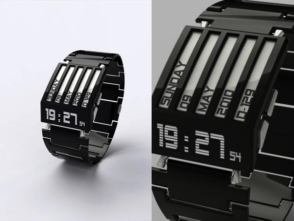Relógio com tecnologia E-Ink