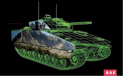 Tanque com camuflagem eletrônica