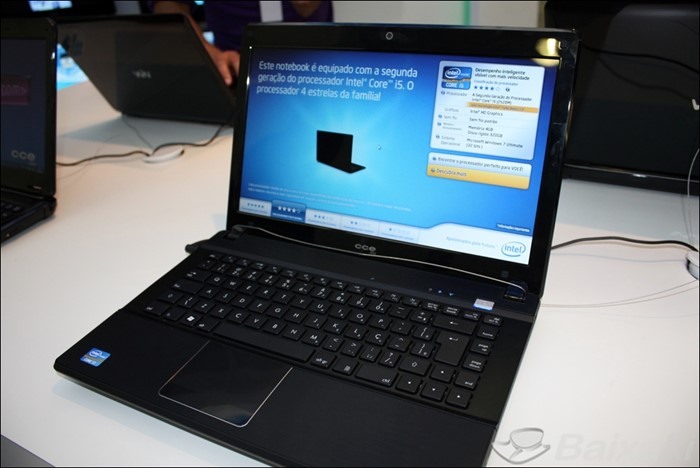 Notebook CCE equipado com o novo Intel Core iSeries