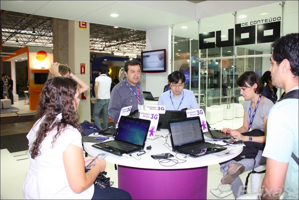 Estande da Vivo na Campus Party Brasil 2011