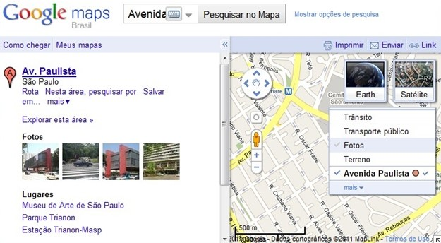 Widget que facilita a exploração no Google Maps.