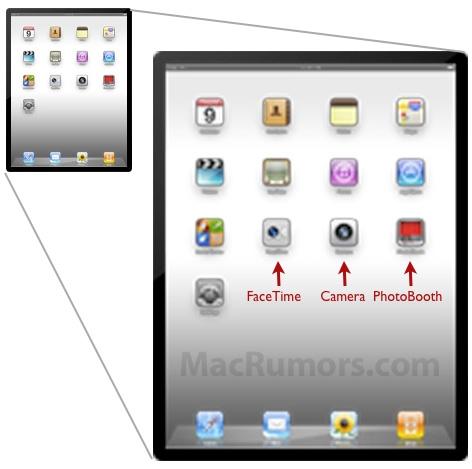 Novos aplicativos indicam câmeras no novo iPad.