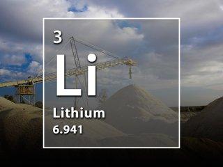 O lítio é utilizado em baterias e em produtos eletrônicos.