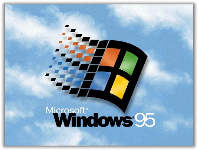 Os velhos tempos do Windows 95.