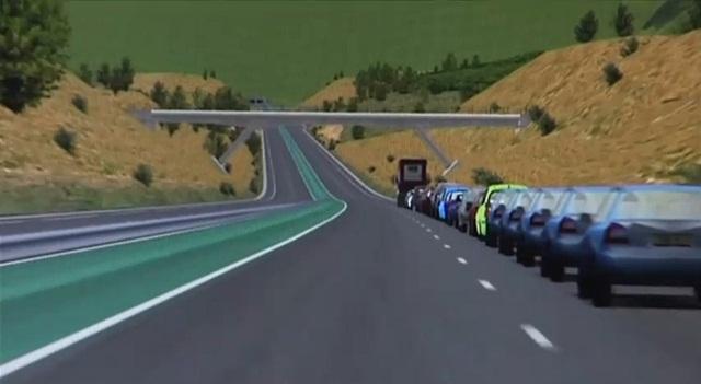 Platooning: vários carros em comboio e guiados automaticamente por um carro-chefe. Fonte da imagem: Reprodução.