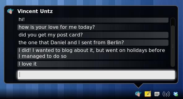Mensagens no GNOME 3