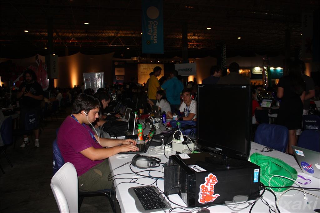 Área central da Campus Party