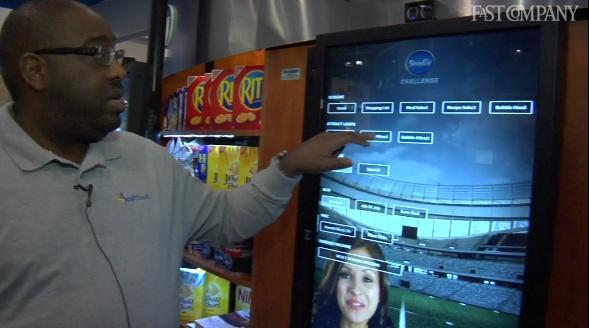 Touchscreen para visualizar o conteúdo
